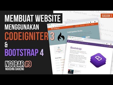 Membuat Aplikasi Dengan Codeigniter Dan Bootstrap