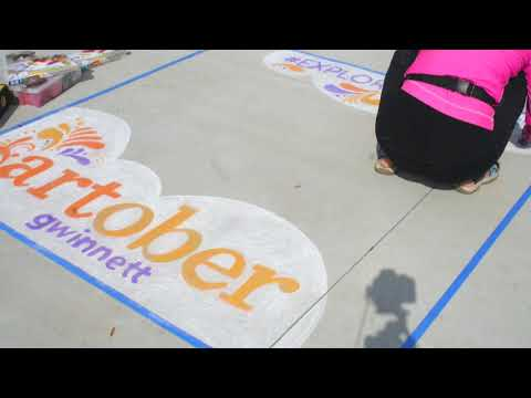 Explore Gwinnett Chalk Art Artober 2017 Katie Bush