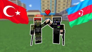 TÜRK ASKERİ VE AZERBAYCAN ASKERİ BİRLEŞTİ! 😎 - Minecraft