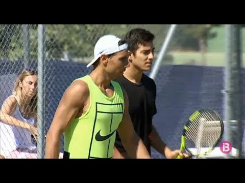 Rafael Nadal's practice with Christian Garin in Mallorca, 21 June 2017