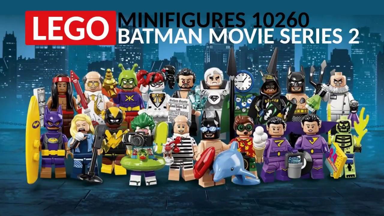 Lot of 4 LEGO 71020 LEGO Batman Movie Mini-Figure Series 2