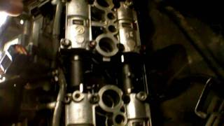 Valve clearance inspection on a inline 4 motorcycle (example: Kawasaki ZX6R)