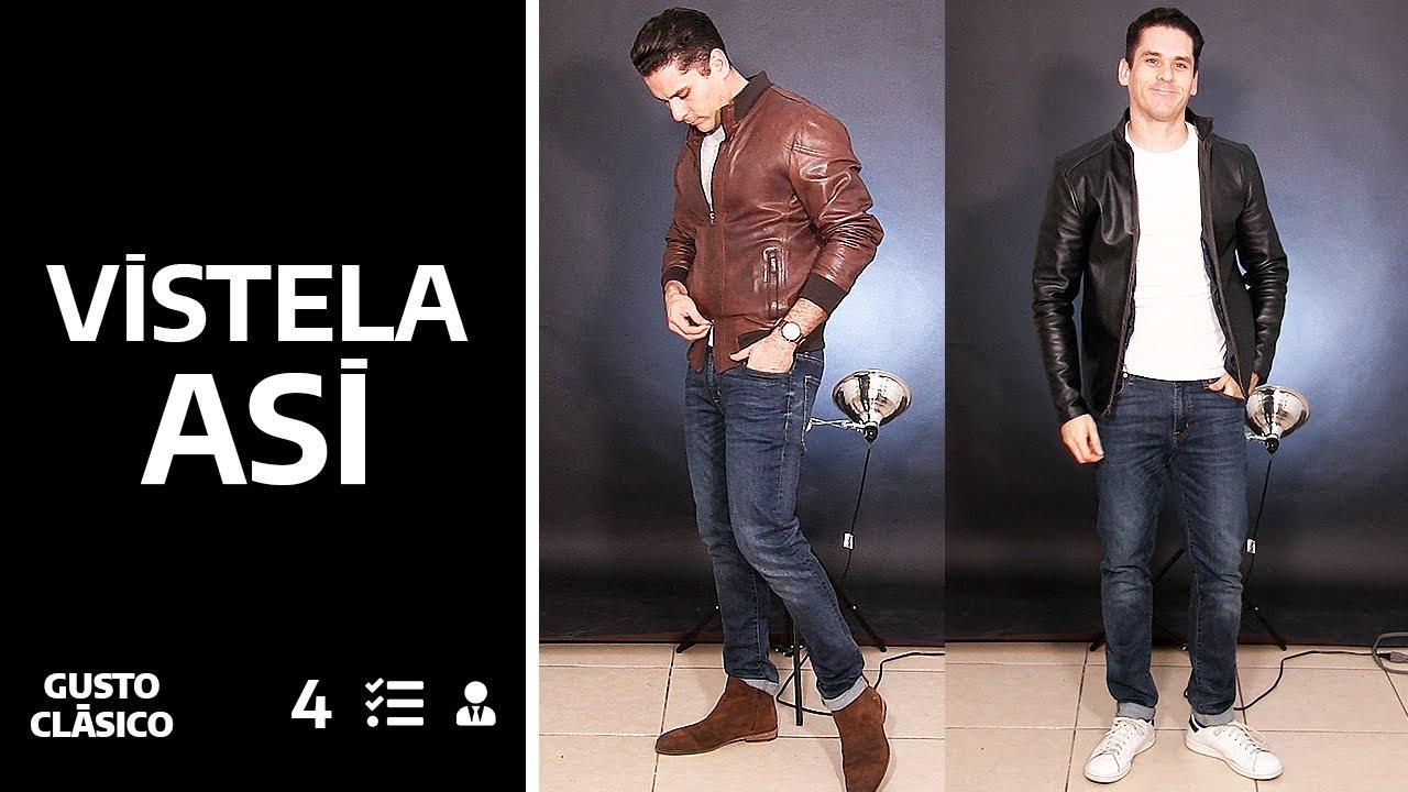 Cómo vestir una chaqueta de cuero   Combinaciones y conceptos