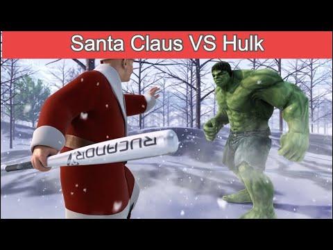 Hulk VS Santa Claus - Epic Battle (Part 1) - The Home of 3D