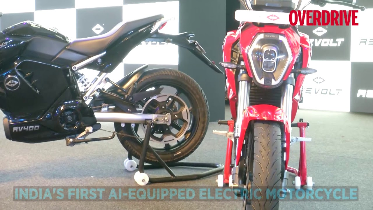 Revolt RV400- India's first all-electric motorcycle unveiled