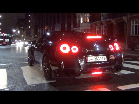 Arab Nissan GT-R CRAZY LAUNCH CONTROL X2 in London!!