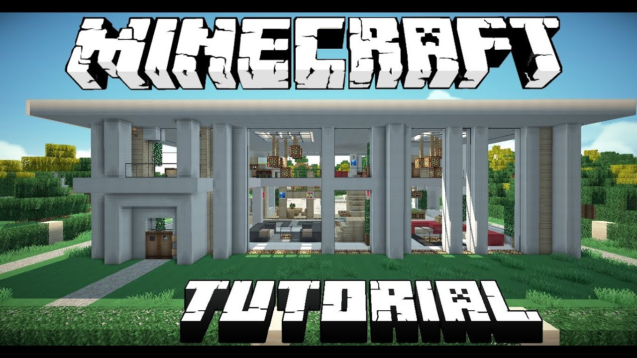 Minecraft modern house tutorial part 1 youtube for Modern house tutorial