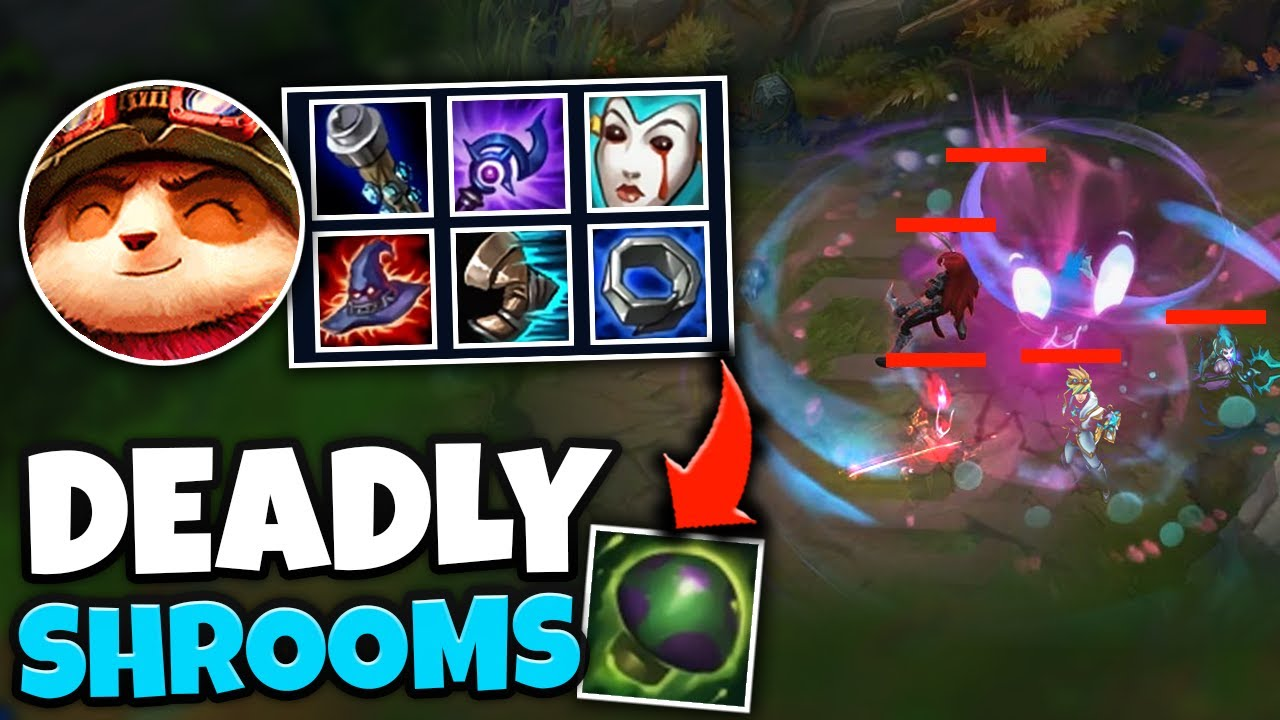BE CAREFUL WHERE YOU WALK OR YOU GET ONE SHOT! DEADLY FULL AP TEEMO SHROOMS - League of Legends