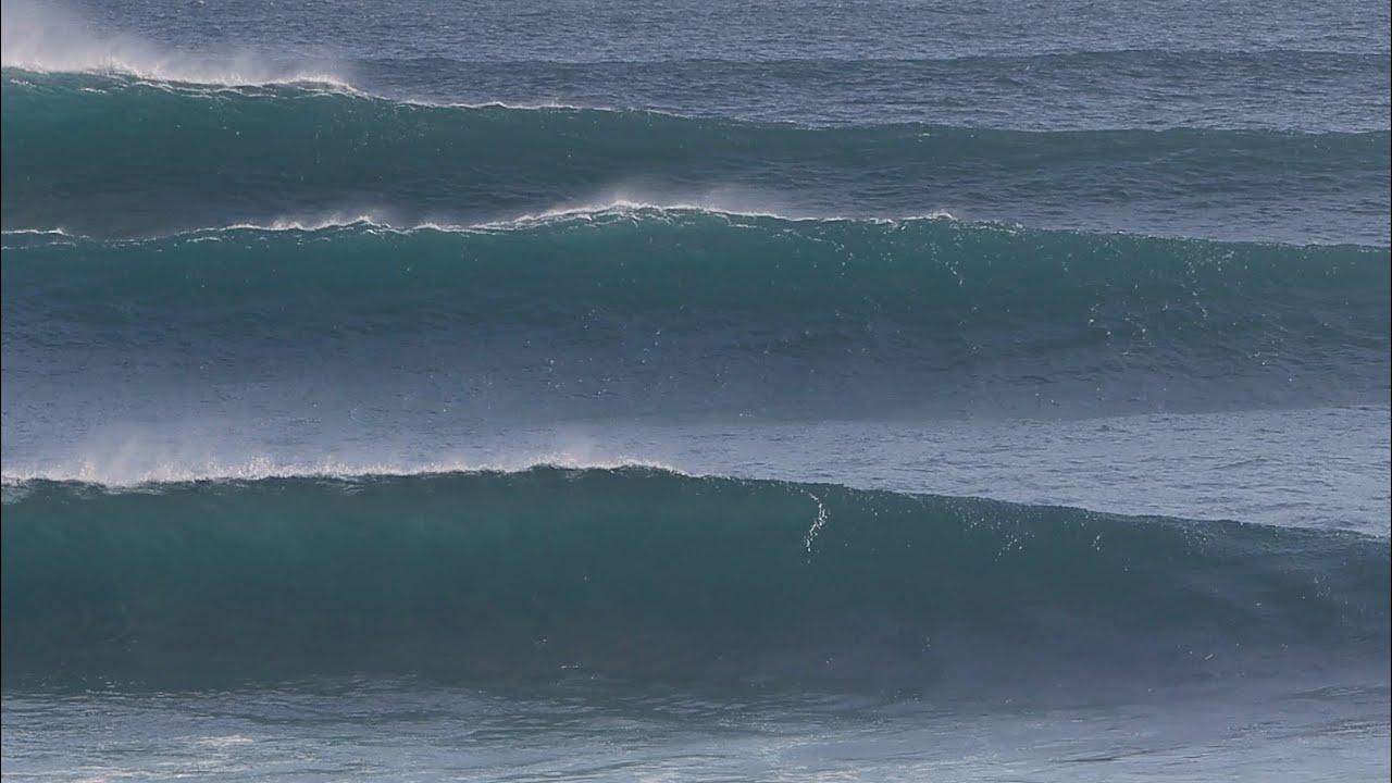 A Few Surfers Take On Solid, Unruly Uluwatu - 19 June 2021