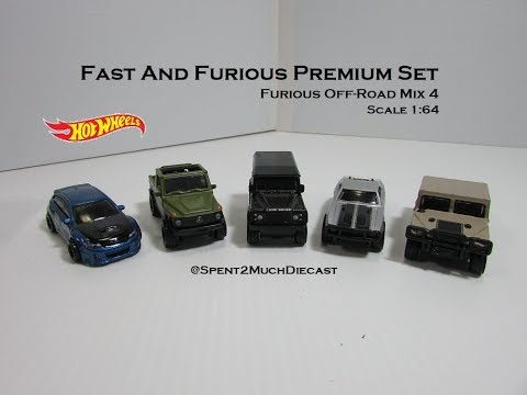BRAND NEW 2019 HOTWHEELS FAST AND FURIOUS OFF-ROAD COMPLETE SET OF 5