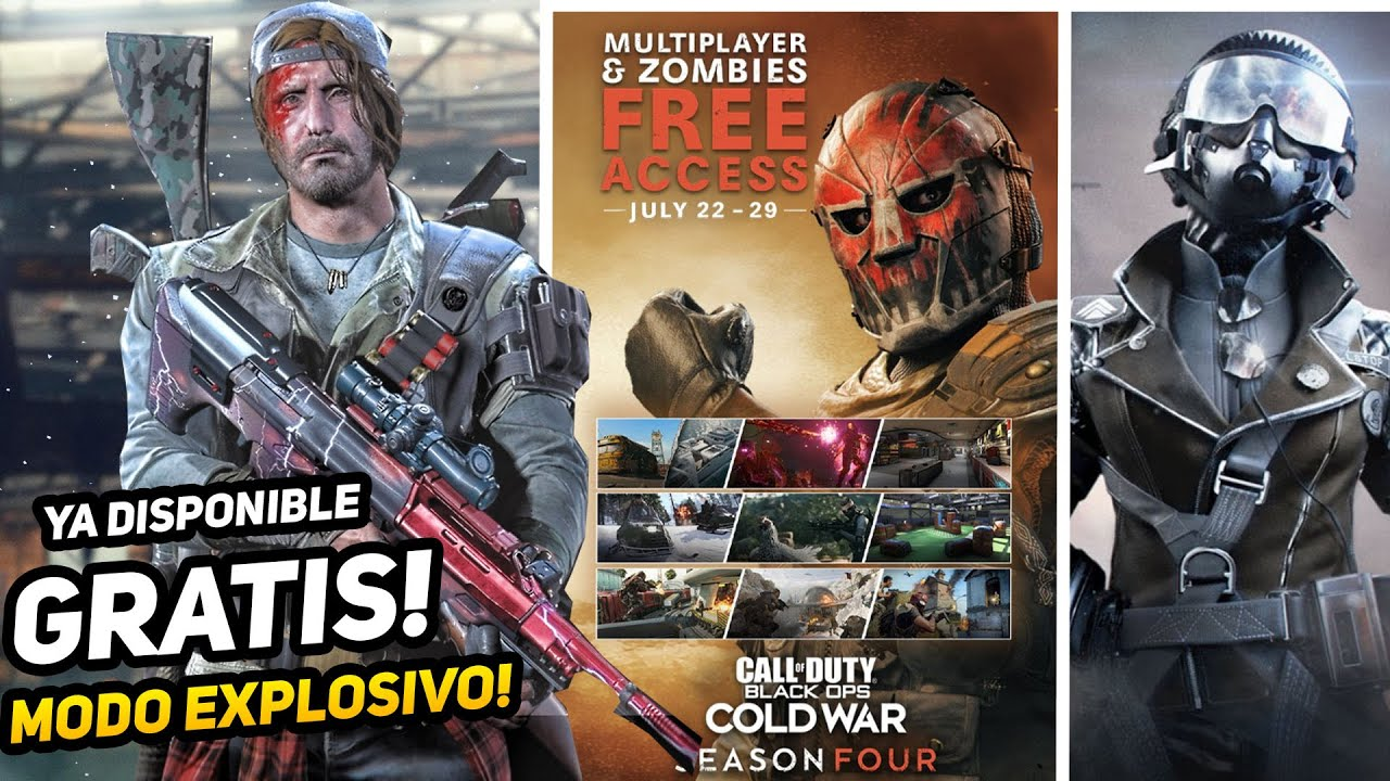 Gratis! Cold War, Nuevo modo Carga Explosiva WARZONE, paquete pro pack y más - ALKA593