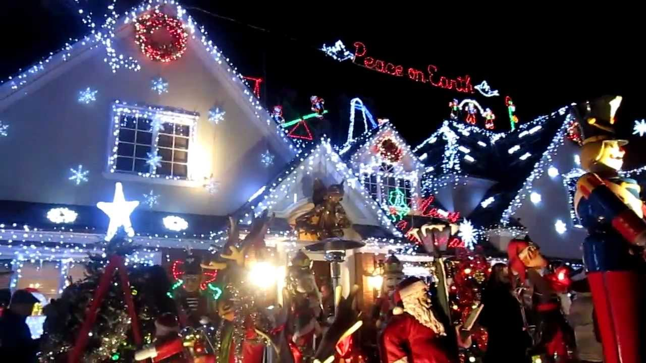 Image result for christmas lights house