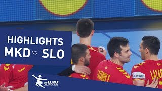 Highlights | FYR Macedonia vs Slovenia | Men's EHF EURO 2018