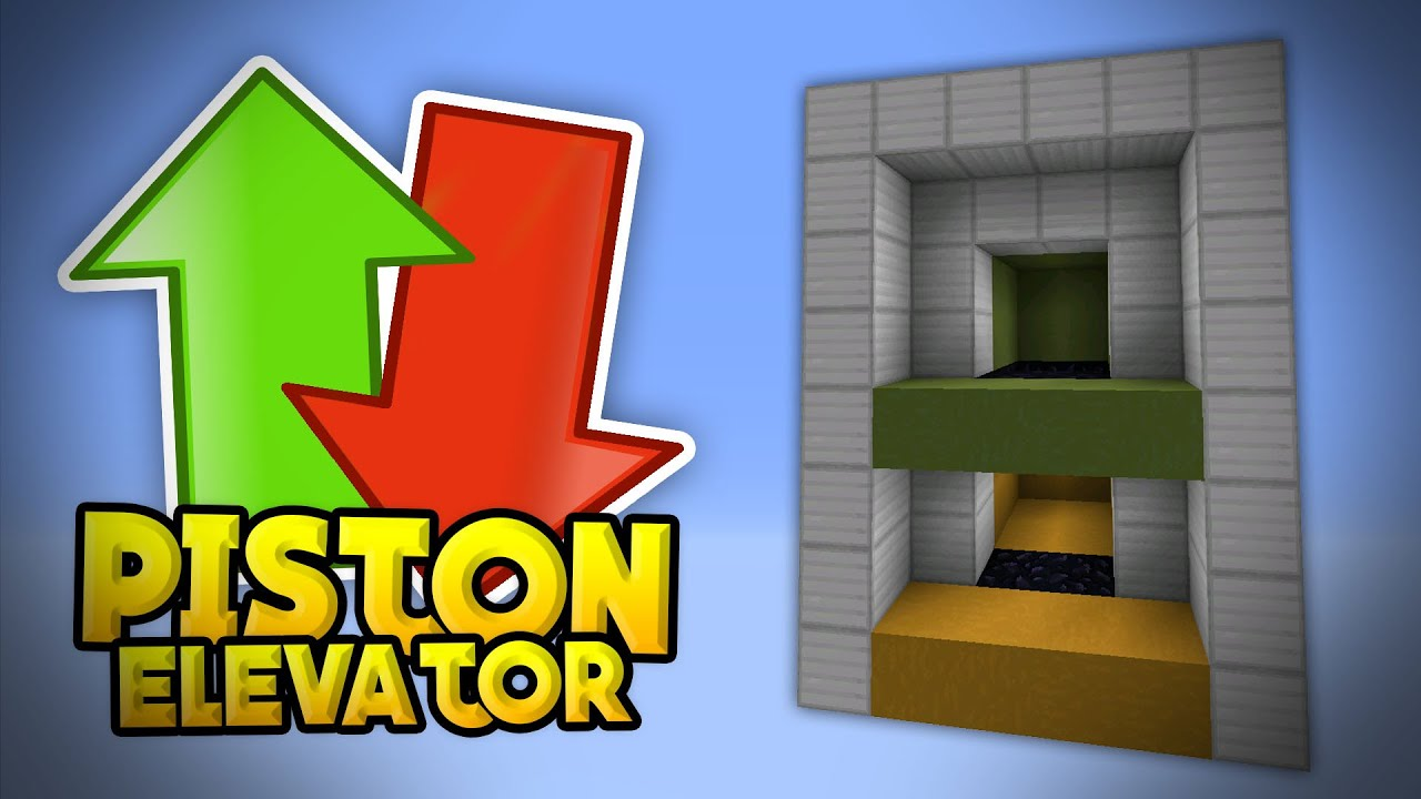 How to make a simple working elevator in minecraft pe