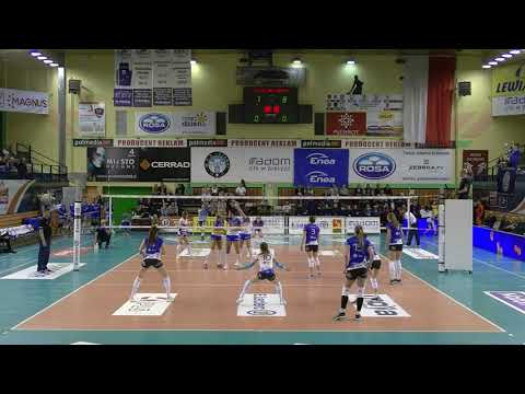 Małgorzata Skorupa MIDDLE BLOCKER Polish League 2018-2019 nr 8 blue shirt