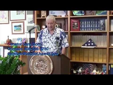 Senator Sam Slom announces Legislative agenda for 2015
