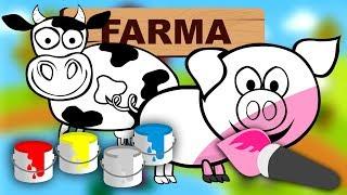 Kolorowanie dla dzieci zwierzęta na wsi | CzyWieszJak