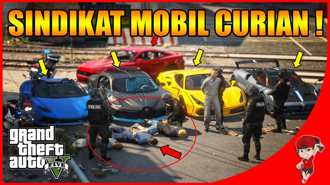 GTA V RASA INDONESIA (16) - SERU ! BERANTAS SINDIKAT MOBIL MEWAH HASIL CURIAN !