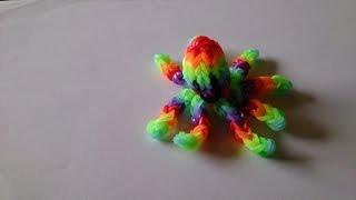 Объемный осьминог, Радужки Rainbow Loom