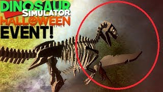 Dinosaur Simulator (Roblox) - Evento de Halloween, Skins Fossil! | (#118) (Gameplay)