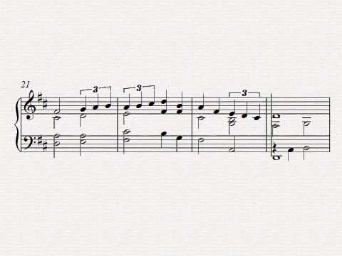 Free easy piano sheet music - How Beautiful Upon The Mountains by Peter Edvinsson