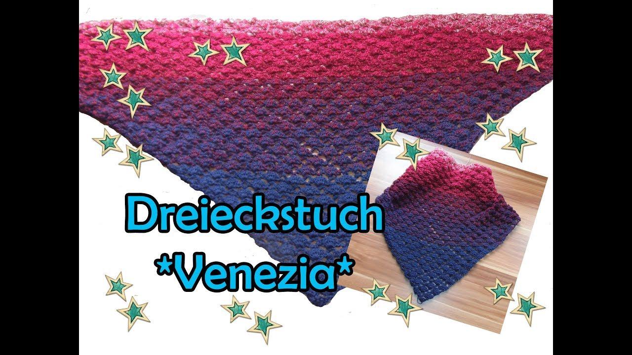 Dreieckstuch *Venezia* häkeln - DIY Bobbel Häkelanleitung - YouTube