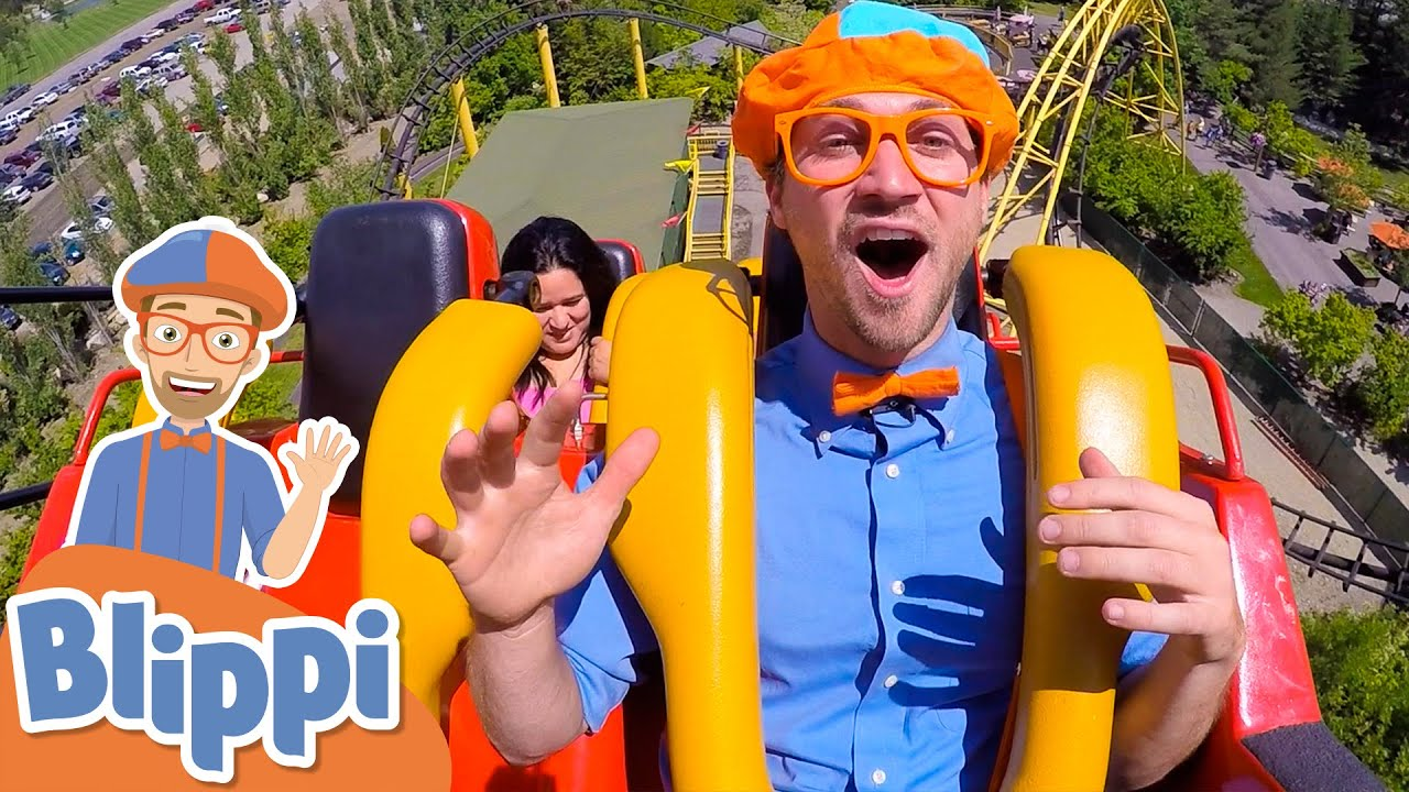 Blippi Visits A Theme Park! | Learn With Blippi For Kids! | Educational Videos For Toddlers