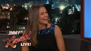 Jennifer Garner Baked Blueberry Buckle for Jimmy Kimmel