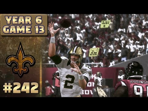 Saints @ Falcons Highlights (S6,G13) | Madden NFL 17 New Orleans Saints Franchise Ep. 242