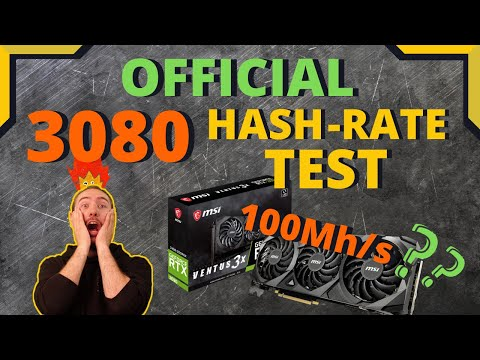 OFFICIAL Nvidia RTX 3080 MINING Hashrate Test RESULTS!! Can we get to 100Mh/s??