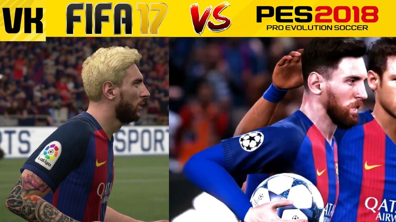 a6660b0f8501 PES 2018 vs FIFA 17 Comparison  Player Faces