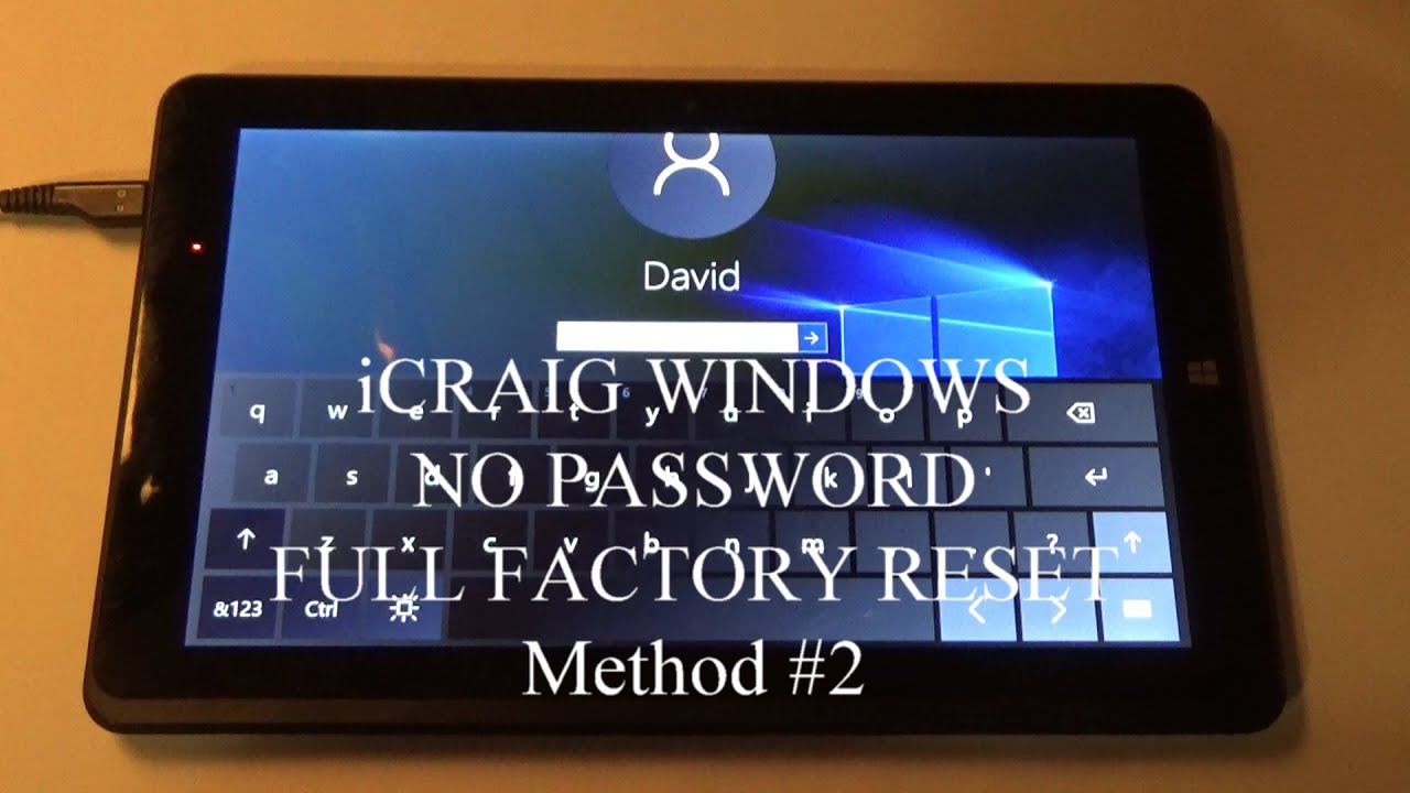 Factory Reset Icraig Cmp801sp Windows Tablet No User Password I Ll Show You How Method 2 Youtube
