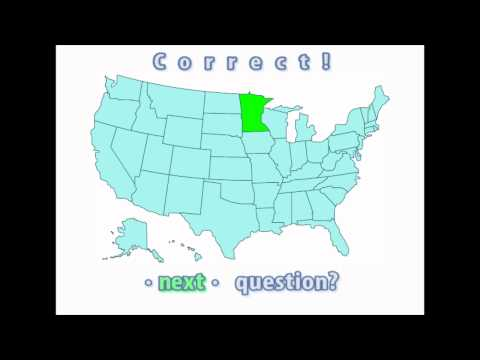 Interactive United States Map Quiz - Correct Minnesota Location
