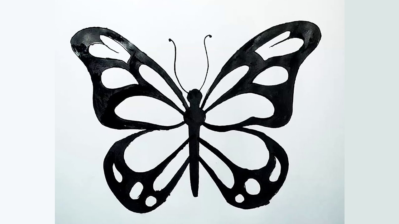 How to Draw Most Beautiful Butterfly - YouTube