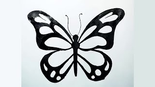 butterfly drawings pretty drawing draw clipartmag paintingvalley