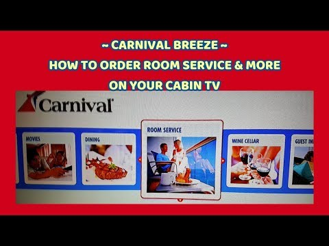 HOW TO ORDER ROOM SERVICE & MORE FROM YOUR CABIN TV