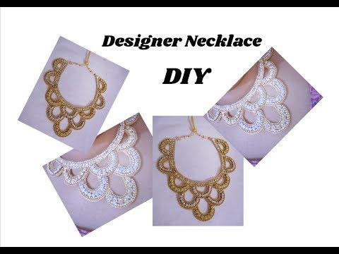 How to make designer necklace | jewellery tutorials