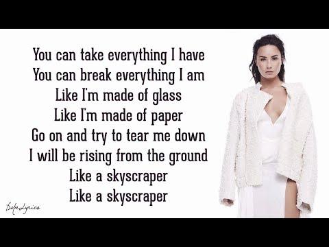 Skyscraper  Demi Lovato Lyrics 🎵