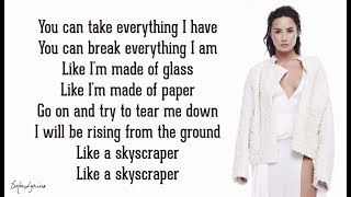 Skyscraper Demi Lovato Lyrics