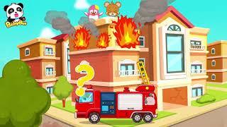 Valiente Bombero Equipo De Rescate: Bomberos Y Helicóptero | Animación Para Bebés|BabyBus