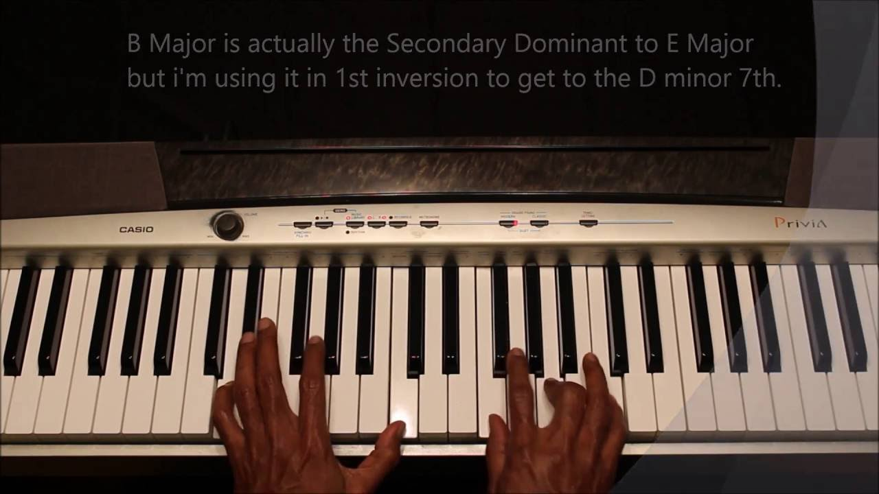 Passing chords using secondary dominant chords youtube passing chords using secondary dominant chords hexwebz Choice Image