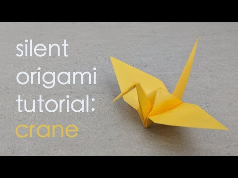 Silent Origami Tutorial: Traditional Crane