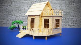 아이스 캔디 스틱으로 귀여운 오두막을 실제 집처럼 보이…