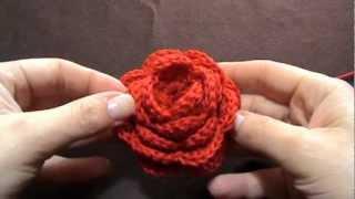 Tutorial uncinetto -  Come fare una rosa a uncinetto