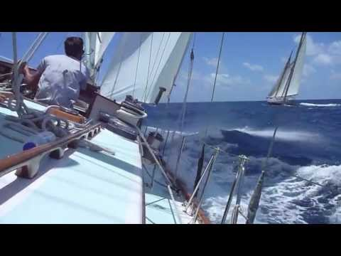 Sailing 73ft ketch Stormvogel at Antigua Classics