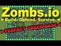 PERFECT GREEN BASE   ZOMBS.IO
