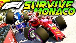 SURVIVE MONACO - Extreme Damage Mod F1 Game Keyboard Challenge