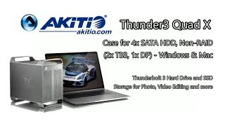 Akitio Thunder3 Quad X 4-Bay Thunderbolt 3 Case for Mac and WIndows Discussion T3QX-T3DIAY-AKTU