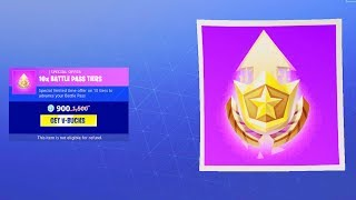 Battle Pass Tiers available in Fortnite Battle Royale item shop