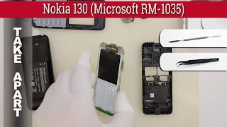 How to disassemble 📱 Nokia 130 (Microsoft RM-1035) Take apart Tutorial